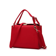 New Arrival High Quality PU Leather Women Top-handle Bag Fashion 3 Color Women Shoulder Bag Small Women Messenger Bag