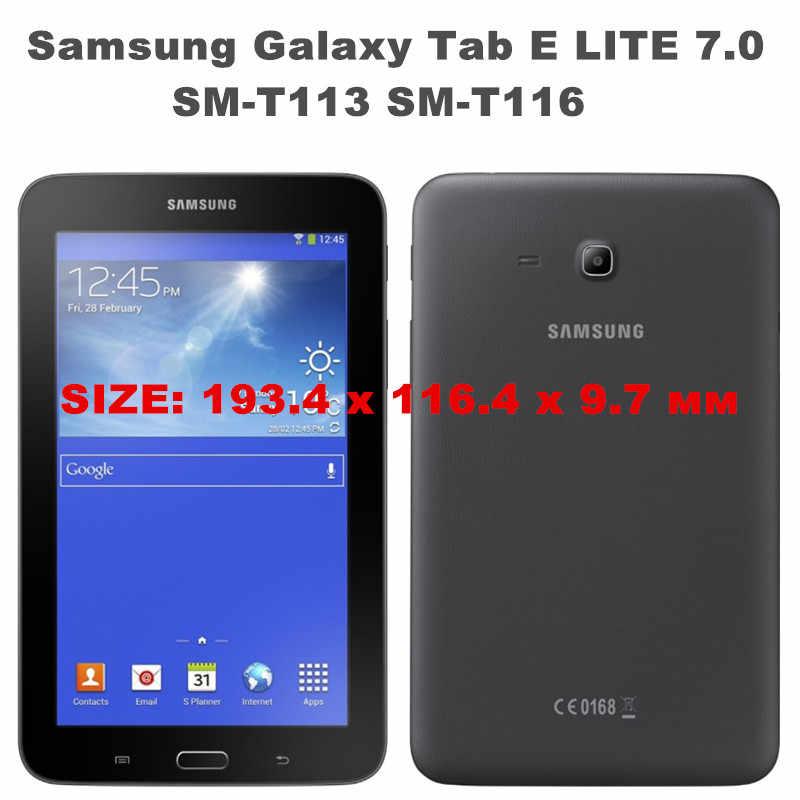 cda2e5eb067 ... HISTERS PU Leather Case For Samsung GALAXY TAB E 7.0 SM-T113 SM-T116 ...