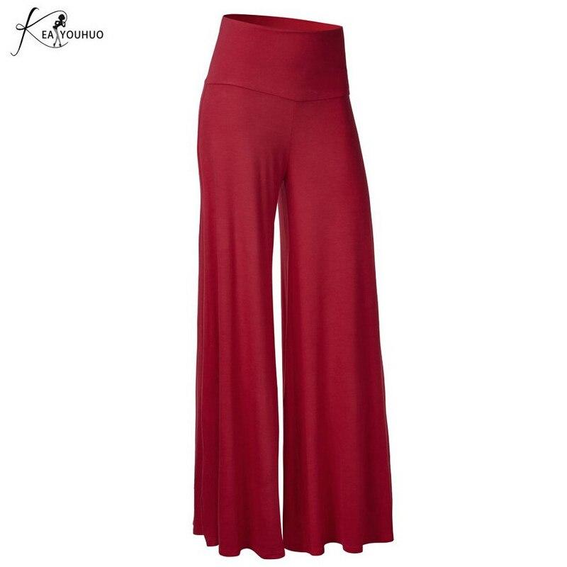 2019 Summer Plus Size Baggy Trousers women Hot Sale Women For Women   Wide     Leg     Pants   Elegant High Waist Black   Pants   Joggers Women