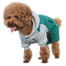 Dog Clothes Cotton Yorkies French Bulldog Pet Shop Acessorios Green  Bull Winter Disfraz Para Perro A008