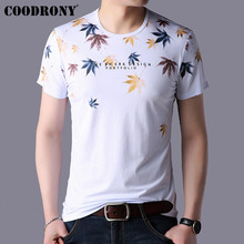 COODRONY Fashion Maple Leaves Print T Shirt Men Summer Streetwear Casual Short Sleeve T-Shirt O-Neck Tee Homme S95104