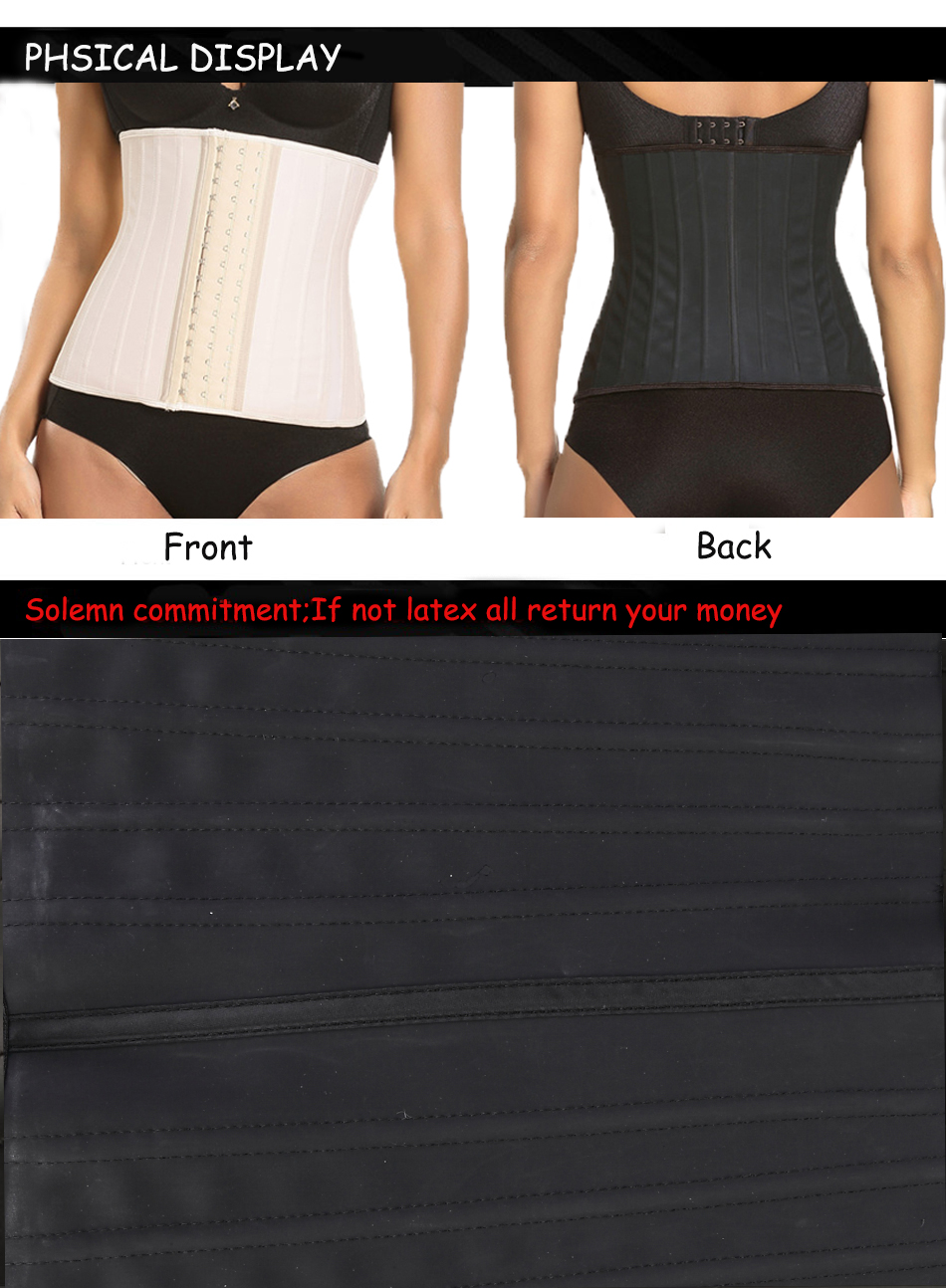 25 Steel Bones Posture Corrector Belt with Three Row Buckle Design Made of Pure Natural Rubber Fabric for Female 18