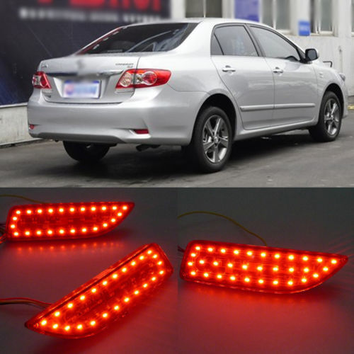 Ownsun Superb LED Reflector Rear Tail Light Bumper with Turn Singnal For Toyota Corolla new for toyota altis corolla 2014 led rear bumper light brake light reflector novel design top quality fast shipping