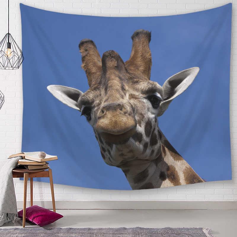 ג 'ירפה דקורטיבי שטיחי קיר תלוי שטיחי המנדלה בוהמי מארג נוף טפט קיר אמנות תליית ציור