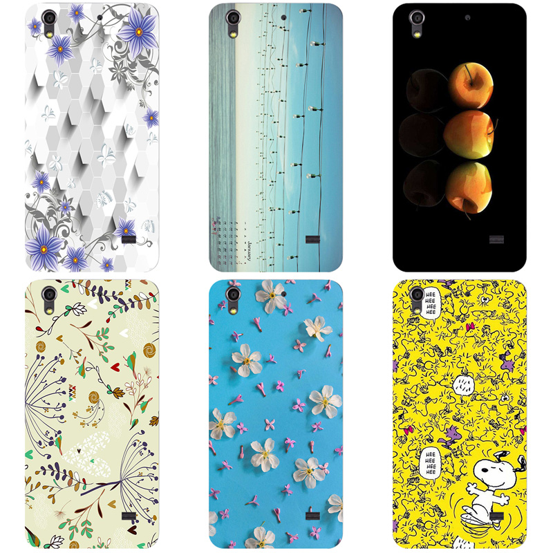 Coque For <font><b>Huawei</b></font> Ascend <font><b>G620s</b></font> Honor Play 4 G621 Fashion Flower Cartoon Back Cover Hard Phone Cases Print Cover image