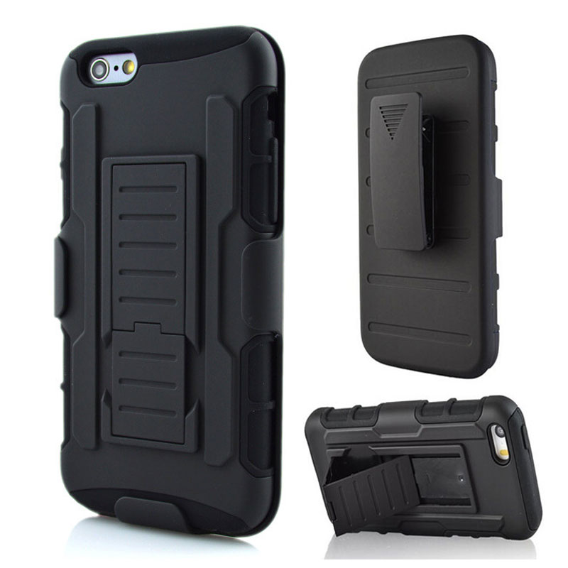 Future Armor Impact Shockproof Kickstand PC Phone Case For iPhone 4S 5S 6 6S 7 Plus with Rotates Belt Clip Silicone Back Cover