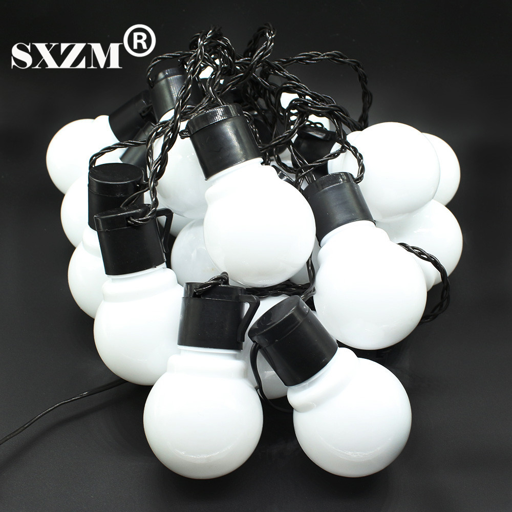 SXZM 10M 38leds led cordes 5CM super grande boule AC110V 220V en - Éclairage festif - Photo 2