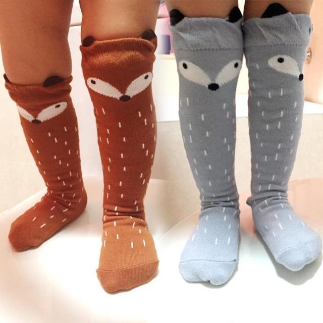 2016-Autumn-Winter-Hot-Cute-Kids-Fox-Socks-Totoro-Socks-Bear-Pancake-Cartoon-Girls-Knee-High-Socks-baby-Long-Socks-2