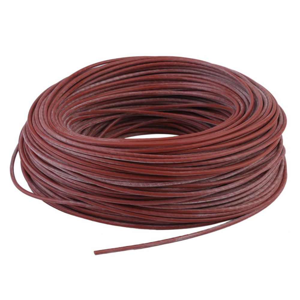 Portable Infrared Radiant Heating Cable Silicone Carbon Fiber Wire Electric Heater Hotline For Floor Heating freeship to Russian electric heater carbon fiber heater 1610w floor wall hanging warmer for home infrared heating device xh 175