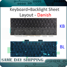 Keyboards Danish Macbook Backlight NEW for Pro Retina 13-A1708 Denmark DK