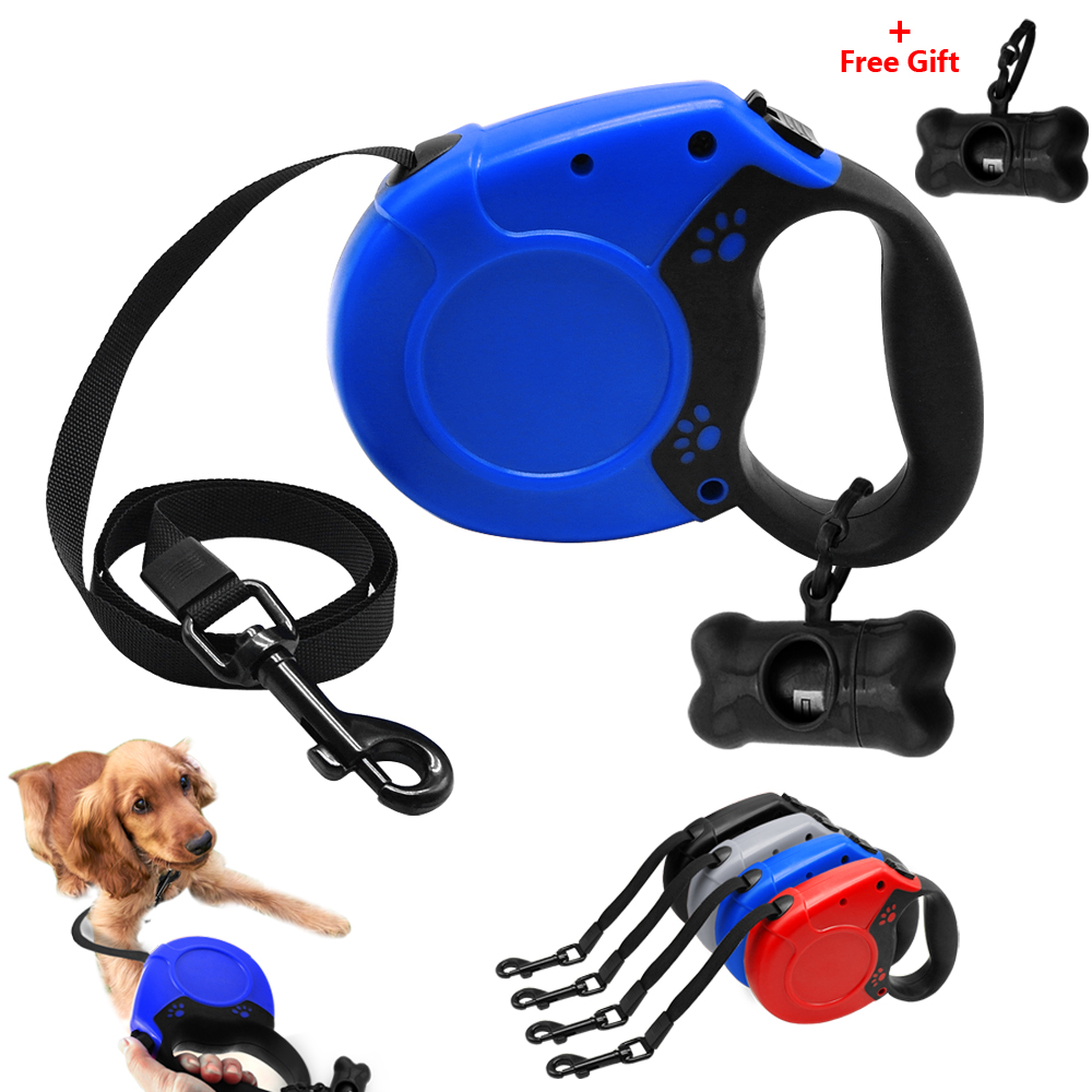 16ft pet dog cat puppy retractable leash traction rope for Retractable cat toy