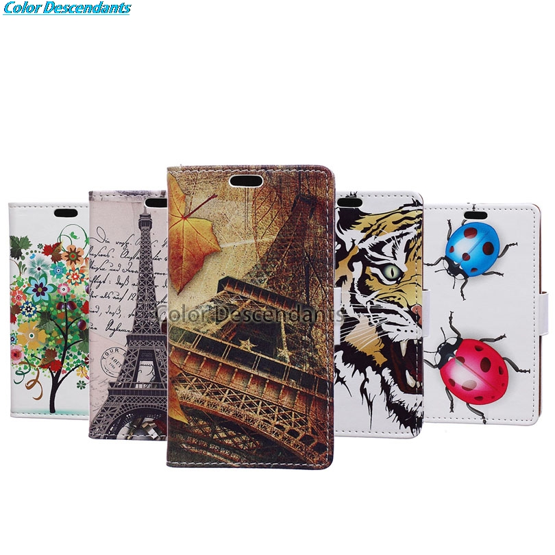 For Huawei P Smart Case Leather Wallet Flip Coque Cover For Huawei P Smart / Enjoy 7S / Honor 9 lite Mobile Phone Bag Cases