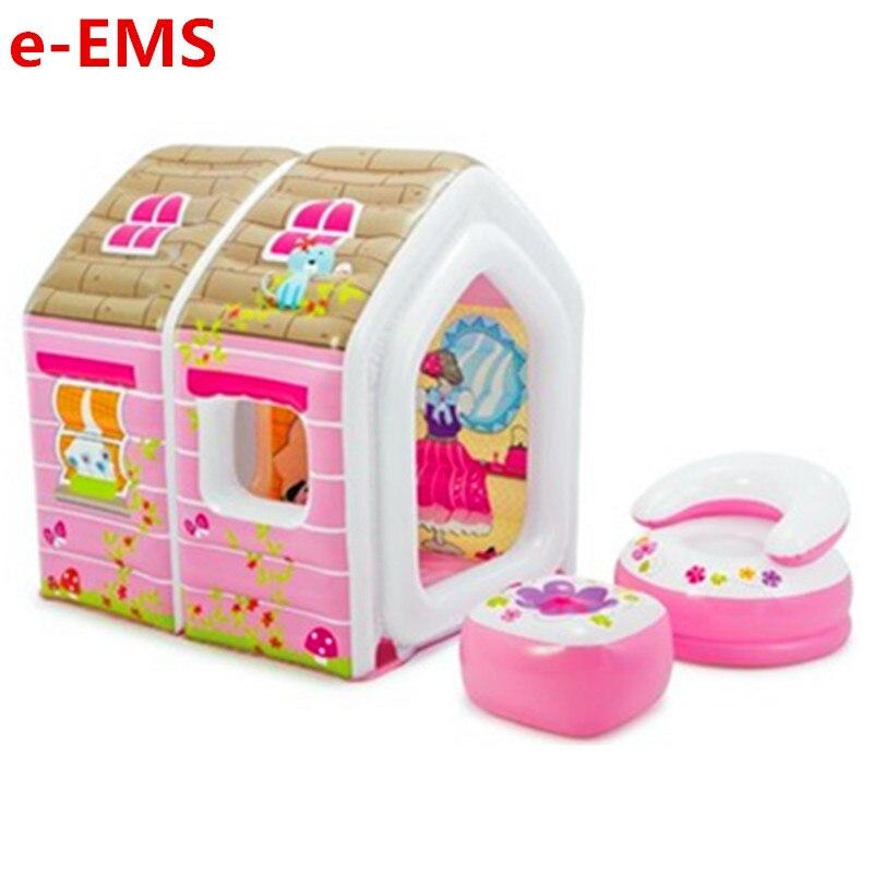 Mâle Fille Jouer Maison Jouet Enfants Tente de Bande Dessinée Princesse Maison Gonflable Intérieur Jeu Mer Chambre Piscine À Balles G2014