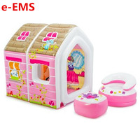 Male Girl Play House Toy Children Tent Cartoon Princess House Inflatable Indoor Game Room Sea Ball Pool G2014