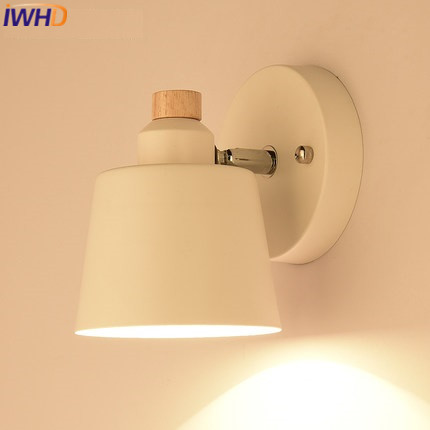 IWHD Nordic Style Iron Arm Wall Lighting LED Wall Lamp Modern Wood Sconce Wall Lights For Home Stairway Lighting Bedroom Abajur женская рубашка dkny 0400086802579 page 5