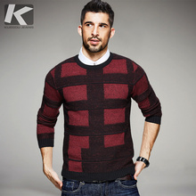 2017 Spring Mens Fashion Sweaters Plaid Pattern Knitted Brand Clothing Man's Slim Knitwear Pullovers Male Wear Knitting Clothes