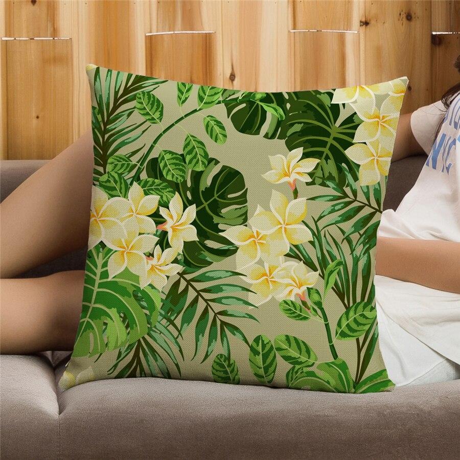 Ev Dekoralı Naxışlı Divan Atılan yastıq örtüyü Floral Capa - Ev tekstil - Fotoqrafiya 3