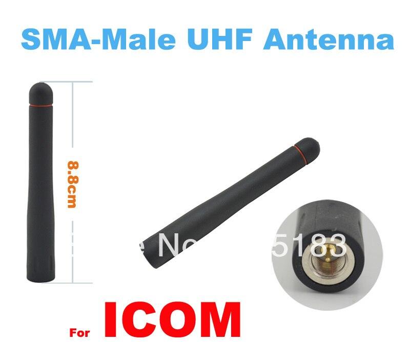 Free Shipping UHF SMA-Male Antenna For ICOM Two-way Radio/Walkie Talkie