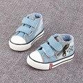 Crianças meninos crianças primavera / outono bebê meninas Denim lavado sapatos moda Casual sapatos respirável