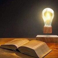 ICOCO Từ Gỗ Bay Lên Nổi Không Dây Bulb Đèn cho Quà Tặng Độc Đáo Room Decor Ánh Sáng Ban Đêm Home Office Desk Công Nghệ Đồ Chơi