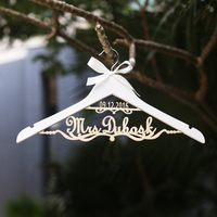 Custom Wedding Hanger Hanger For Bride Hanger With Name And Date Personalized Wedding Dress Hanger For