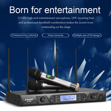 G-MARK G1000 Wireless Microphone system professional 150M Distance 2 Handheld  Lavalier transmitter automatic frequency matching