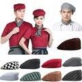 1PC Fashion Men Women Chef Hat Catering Baker Kitchen Cook Duckbill Beret Golf Caps