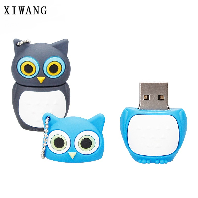 XIWANG cute animal cartoon owl USB flash drive 2.0 4GB 8GB 16GB 32GB 64GB USB drive computer disk creative pendrive holiday gift creative teeth style usb 2 0 flash drive white 16gb