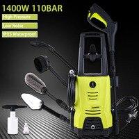 High Pressure Cleaner Car Washer 1400w 110 Bar Spray Gun Detergent Bottle Turbo Water Hose Self washing Machine