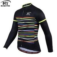 Kiditokt 冬の熱フリースサイクリング服暖かい mtb 自転車サイクリングジャージマウンテンバイクサイクリングスポーツウェア