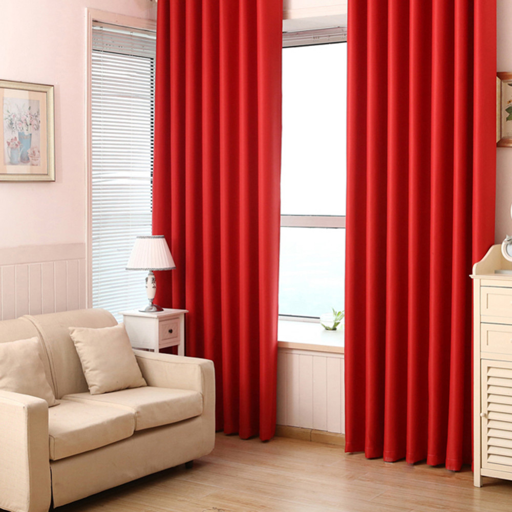 1pc Blackout Curtains Solid Color All Shade Cloth