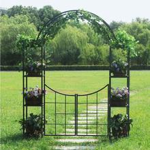Garden iron arch flower rack horticultural support outdoor climbing rattan pot
