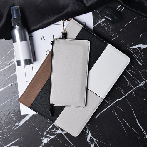 Silver Hit color smart case with phone wallet for iPad 9.7 (2018 2017 A1822 A1823 A1893)