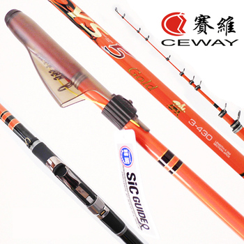 Carbon Rock Poles Bolognese ISO Fishing Rods CEWAY YS 5 GOLD Fishing Tackle Telescopic ISO Fishing Pole ISO Rod FREE SHIPPING фото