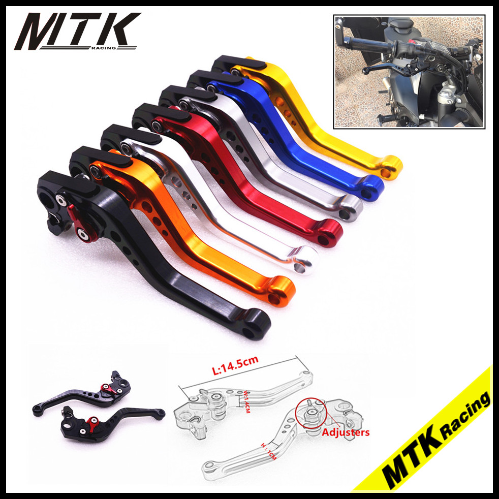MTKRACING CNC Adjustable Short Brake Clutch Levers For Honda CBR600RR CBR1000RR  Motorcycle Spare Parts Accessories