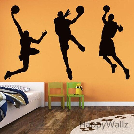 Online Shop 3d Basketball Player Wall Sticker Basketball Wall Decal ...