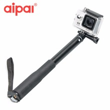 Aipal Action Camera Accessories Mount Self Handheld Extendable Pole Monopod Selfie Sticks For Aipal Gopro 5 4 3 Xiaomi Yi SJCAM.