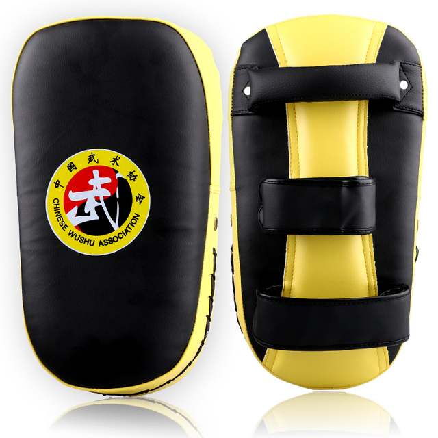 Hot Sale MMA Muay Thai TKD Punching Curve Pads PU leather Sanda Taekwondo Kick boxing Foot Target Boxing Hand Feet Arc Target