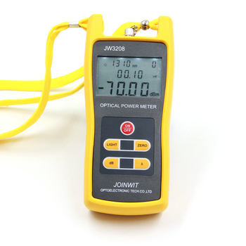 JoinWit JW3208A Portable -70~+3dBm Fiber Optic Power Meter used in Telecommunications Free shipping joinwit jw3208a portable 70 3dbm fiber optic power meter used in telecommunications free shipping