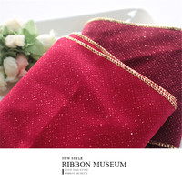 Wide Ribbon Dark Red Red Color Ribbon Christmas Decoration Ribbon 11CM X 914CM Made In Taiwan
