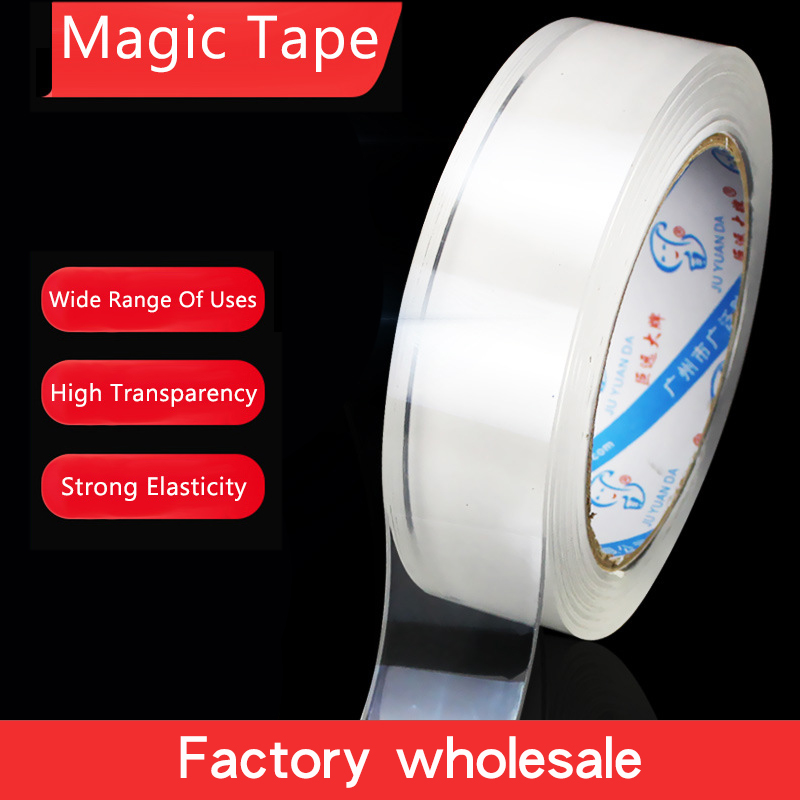 Home Improvement Double Sided Tape Nano Transparent No Trace Acrylic Magic Tape Reuse Waterproof 1m 3m Adhesive Tape Cleanable
