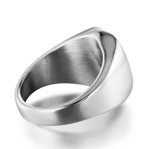 Image 3 - Titanium Steel Muslim Ring Islamic Doctrine Ring Round Stainless Steel  Ring