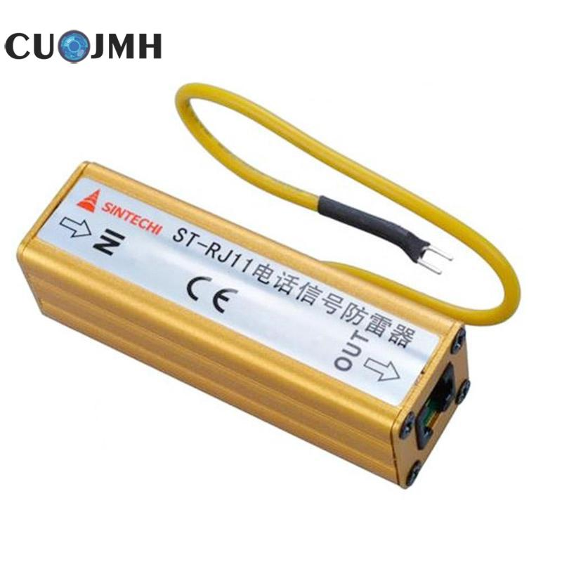 Rj11 Network Thunder Arrester Computer Router Network Card Rj11 Surge Protector High Quality Copper Thunder Arrester lin ya thunder 48v60v
