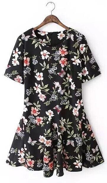 American apparel mädchen kawaii blumenmuster Sommer stil kleid 2015 ...