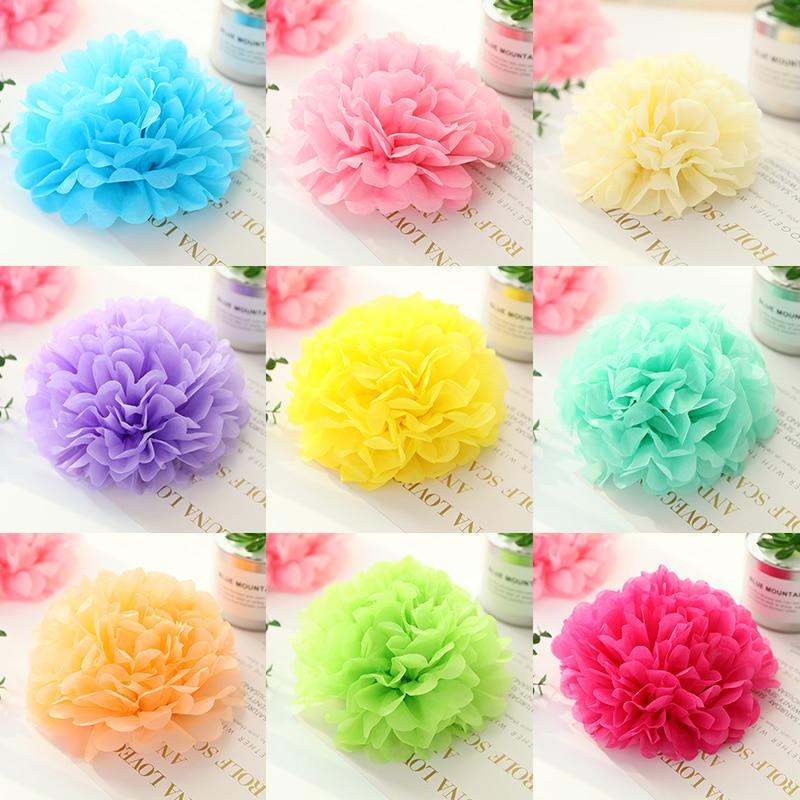 Us 0 78 15 Off 5pcs 20cm 8 Inch Tissue Paper Pom Poms Wedding Party Pompom Flower For Decoration Pompoms In Diy