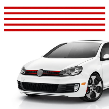 LEEPEE For VW Golf 6 7 Tiguan Auto Decoration Car Styling Car Strip Sticker Reflective Stickers Front Hood Grille Decals image