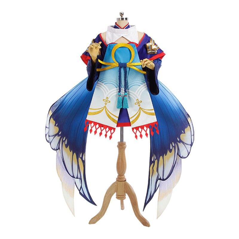 Onmyoji кукольный мастер Золотая Бабочка Танцы с крыльями косплэй костюм