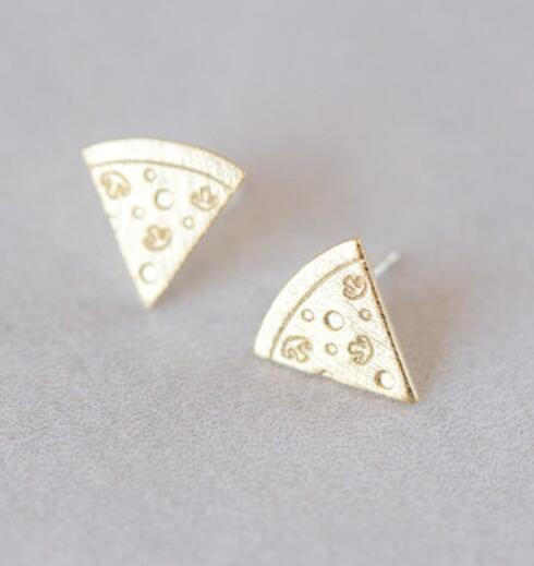 Cute Tiny food jewelry pizza cute lovely epoxy paint Earring Jewelry