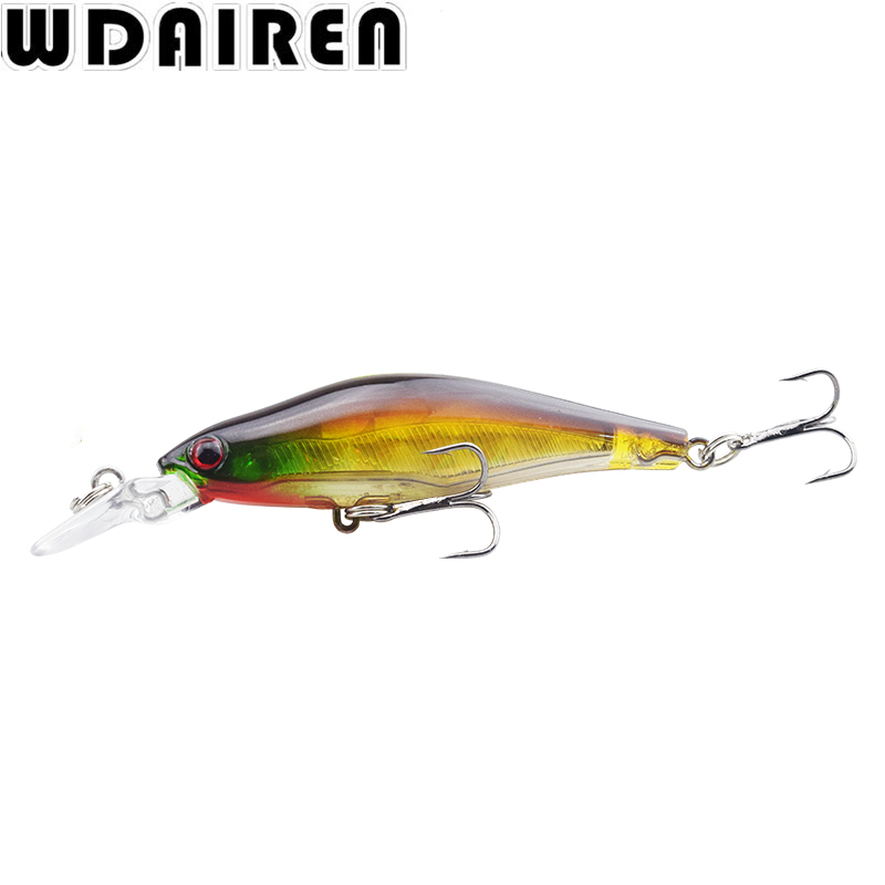 1Pcs 6.5g 8cm Wobblers Crankbait Laser Minnow Fishing Lures Crankbait Hooks Bass Tackle Hard Bait for Sea Carp lures NR-215 new 12pcs 7 5cm 5 6g fishing lure minnow hard bait sea fishing tackle crankbait fishing kit jig wobbler lures bait with hooks