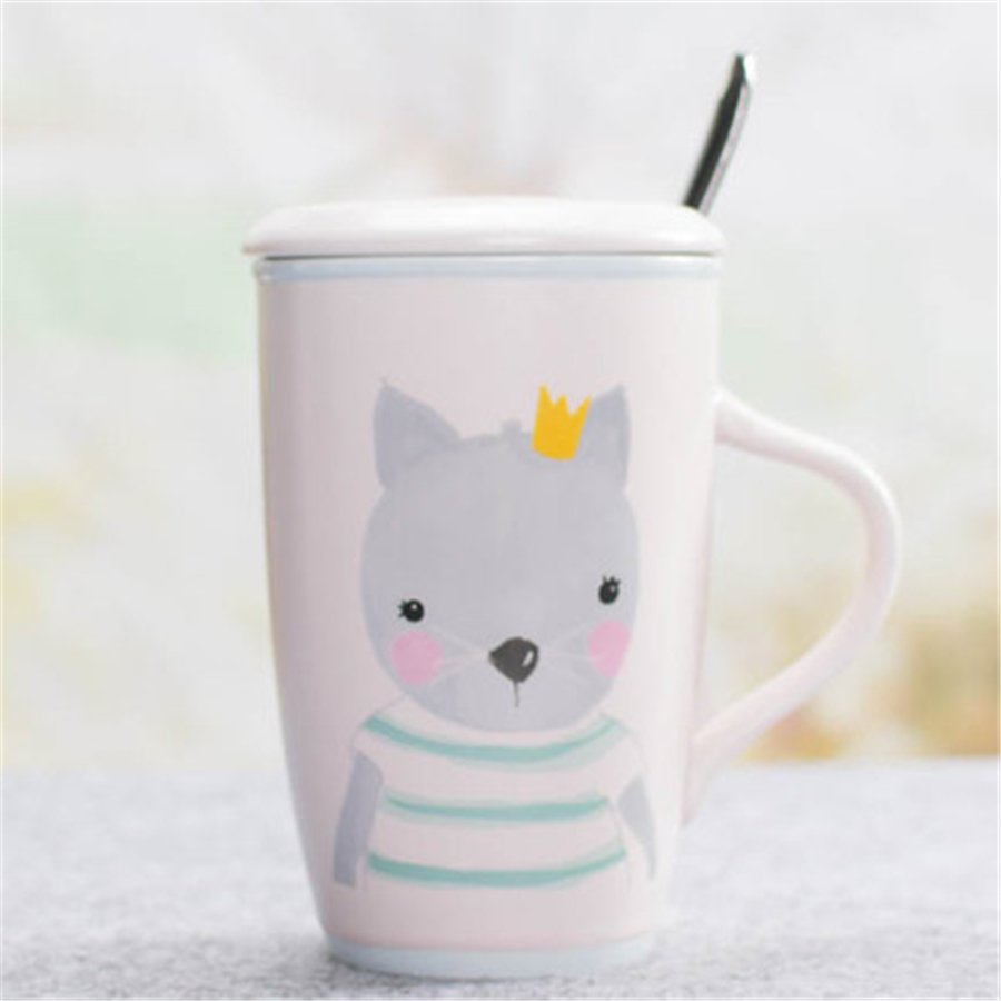 Animal Coffee Cups Us 16 49 Couple Cute Coffee Mugs Tea Cups With Lid Creative Goods Personalized Animal Fincan Cartoon Eco Friendly Mugs Stocked Ddq66 In Mugs From